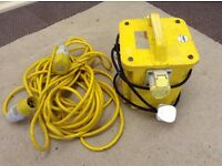 Portable Site Transformer & Extension Cable £75