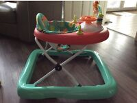 Bright starts baby walker unisex green and red as new