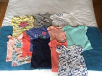 12x girls tops, short sleeved, 3-4 years, great condition