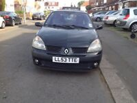 RENAULT CLIO 53 BLACK 1.2 PETROL 82000 MILEAGE V/GOOD CONDITION