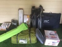 Full camping pack / tent / chairs / bed / cooking equipment etc.
