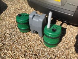 2 Aqua Roll Water Porters & a Waste Water Carrier