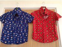 2 x boys Christmas shirts - age 3-4