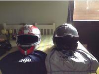 Shark motorbike helmet + agv helmet