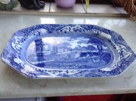 Large Italian Spodes Platter.