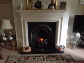 Limestone fireplace .Ivory/ White in colour in excellent condition.