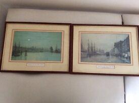 Two Atkinson Grimshaw framed prints