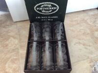 6 Portmeirion Botanic Garden Hi-Ball glasses