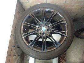 BMW 18 inch Black Alloy Wheels with tyres - 2 available