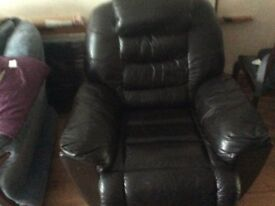 black reclining leather chair
