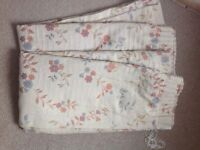 """Floral patterned pair of curtains 102"""" wide, 54"""" drop"""