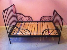 REDUCED PRICE . BED - EXTENDABLE - CAN BE A, SMALL COTSIZE BED OR LARGE FULL SIZE ADULT BED