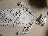 Dalmatian 'Party animals' costume suitable for 5-8 year old