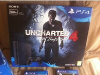 4 month old Playstation 4 Slim line Boxed