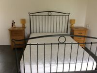 Ikea Black Metal Double Bed Frame (Mattress not included)