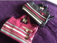 Debenhams soft leather handbags in pink and brown. Lovely condition £25 each.