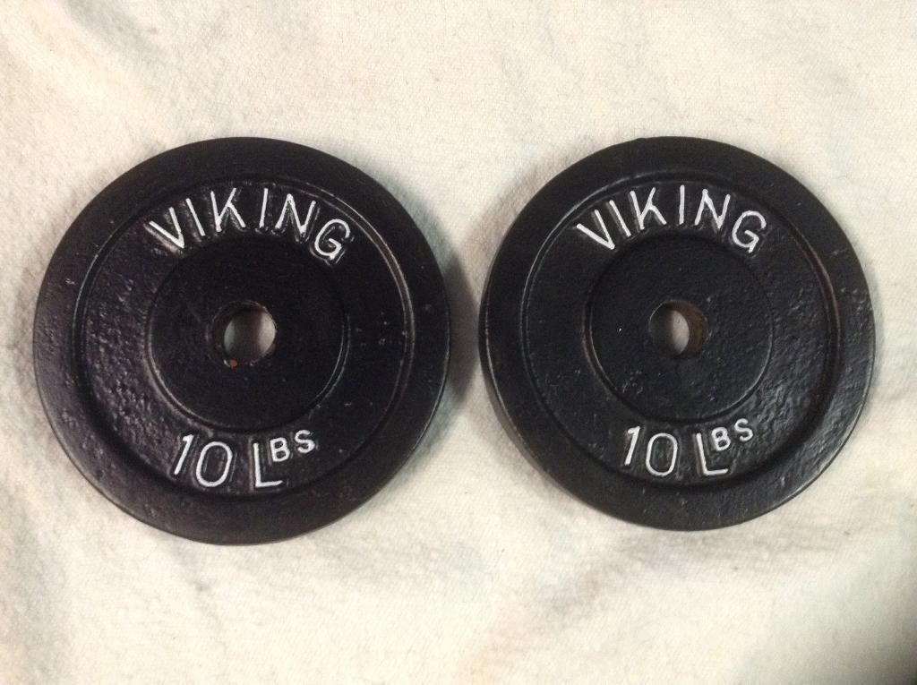4 x 10lb (4.5kg) Viking Standard Cast Iron Weights