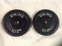 4 x 10lb (4.5kg) Viking Standard Cast Iron Weights