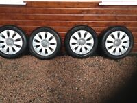 Audi A3 / A4 alloy wheels and tyres. 16 inch rims . Good condition