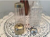 Pair of Vintage Glass Sugar Sifters