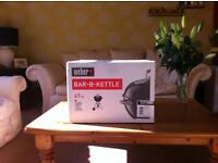 New WEBER fullsize Bar-B-Kettle 47cm Barbecue and new Weber's Complete BBQ Book 310 pages of advice