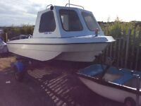 16ft Seahog boat with Mariner 55 Hp outboard engine