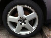 Volvo alloys with good tread on tyres