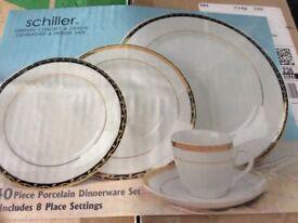 Schiller 40 piece dinnerware brand new