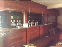 Very large mahogany bar