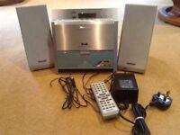 Panasonic hi-fi system,cd-mp3/wma player.fm DAB radio