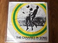 The Canaries in song Single signed by the 1972 Div2 Winning Team