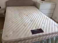Double bed, divan base in 2 halves, 4ft 6inches.