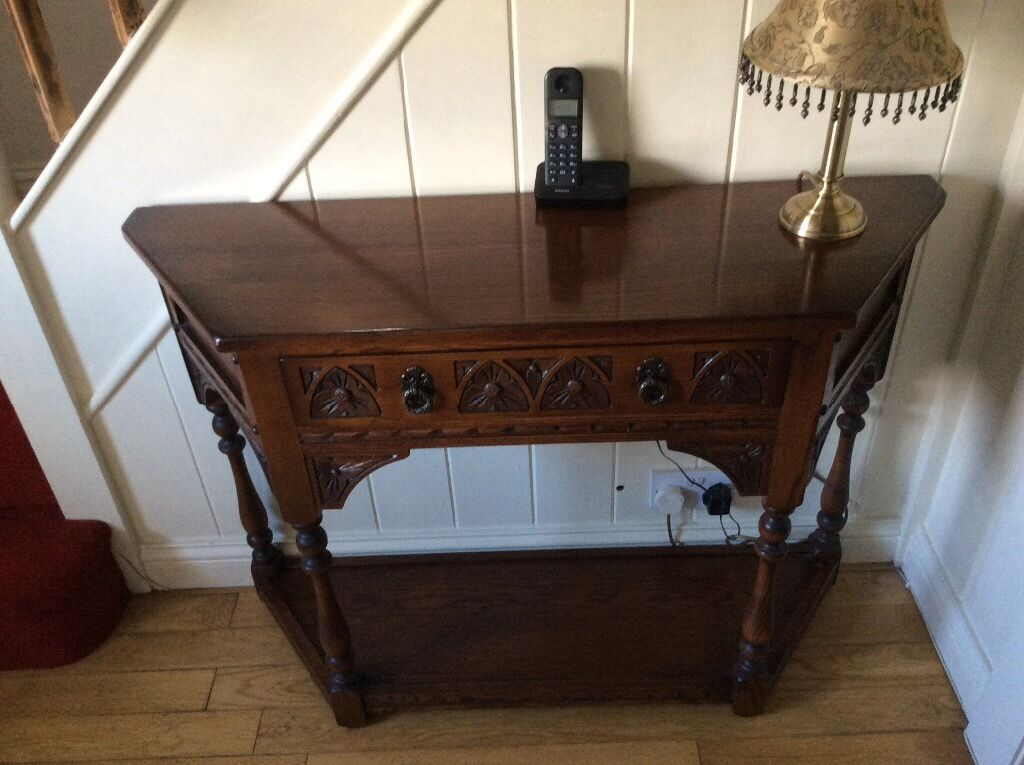 Old charm console table