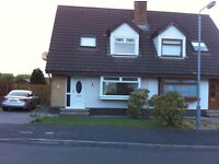 3 Bed Semi-Detached House, Partially Furnished, Carryduff