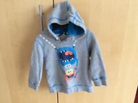 Hoody, monsters with googly eyes, George 1.5-2 years, excellent condition