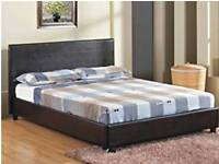 Brand New Leather Double Bed