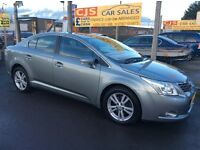 Toyota avensis T4 D4D diesel 2009 one owner 63000 fsh long mot ful leather fully serviced may px