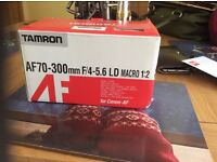 Tamron AF70-300mm LD Macro lens Canon fit
