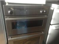 Stainless steel double oven,£65.00