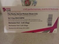 2 X Rocky Horror Picture Show Tickets