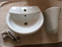 Toilet and wash hand basin