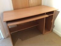 Pull-out extendable keyboard computer desk and chair