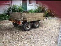 "Trailer, 4 wheeled, 2"" ball with electrics"