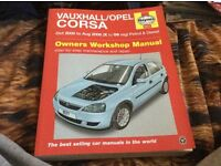 Vauxhall/Opel corsa owners workshop Haynes Manuel in great condition
