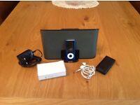 iPod nano 4th gen, plus docking station