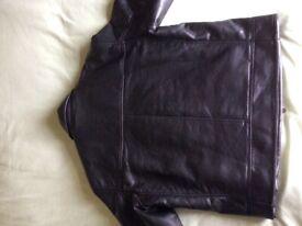 Italian leather bomber jacket
