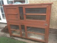 LARGE RABBIT HUTCH TWO TIER