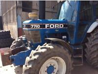 Ford 7710 4x4 tractor all in good working order spare set of wheels and tires