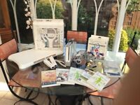 Nintendo wii with step sport and fitness programmes plus controllers cables etc
