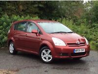 2006 Toyota Verso 1.8 VVT-i T3 Red 7-seater MPV